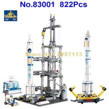 Kazi 83001 822pcs Space Series Rocket Station Building Block Brick Toy