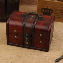 Best-selling Europen type restoring ancient wooden boxes with lock  wooden jewelry box manufacturers selling for gift