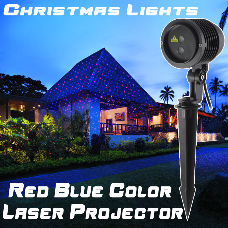Holiday Lights Laser Projector Outdoor Christmas Decorations For Home Red Blue Color New Year Light Metal Body Waterproof IP65<br><br>Aliexpress
