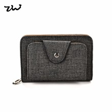 20172017 ZIWI fashion short Women wallet pu leather solid color zipper hasp closure coin purses holders high quality VKP1499(China)