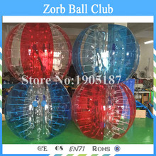 Free Shipping 4PCS+1 Pump 1.5m Size 0.8mm TPU Inflatable Bumper Ball, Zorb Ball,Bubble Football,Bubble Soccer,Loopy Ball On Sale