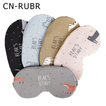 CN-RUBR Hot Sales Draagbare Soft Travel Sleep Rest Aid Oogmasker Mode Cartoon Dier Afdrukken Cover Ogen Patch Slapen Maskers