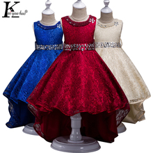 KEAIYOUHUO New Kids Dresses For Girls Clothes Chiffon Wedding Dress For 4 5 6 7 8 9 10 11 12 13 14 Years Children Princess Dress(China)