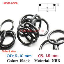 10Pcs/lot Option 5 5.5 6 6.5 7 7.5 8 8.5 9 9.5 10 mm OD x 1.9 mm CS NBR O Ring Oring for hydrocarbons oils gasoline
