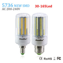 SMD 5736 Chip E27 Led Lamp Light 3W 5W 7W 9W 12W 15W E14 Led Bulb 220v Lampada Led Candle Light Brighter Than 5733 5730 For Home