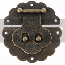 Antique Decorative Hasp Latch Toggle Drawers Latch Buckle Wholesales Jewelry Gift Wine Box Wood Hardware Latch Box Hasp 8*8mm