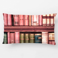 Old Books Antique Library Bookshelf Throw Cushion Wedding Decorative Cushion Cover Pillow Case Customize Gift For Car Pillowcase