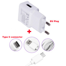2A EU Plug Adapter Mobile Phone Travel Charger +Type C USB Data Cable For HTC 10 evo Bolt,Sharp Z2 ,LeEco Le S3