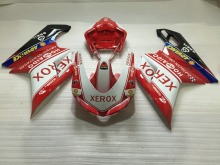 Injection mold Fairing kit for DUCATI 1098 1198 848 2007 2011 ducati 1098 1198 848 07 08 10 11 XEROX Red white Fairings Set DB33