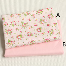160cm*50cm chic floral pink Cotton fabric cotton clothes bedding quilt table cloth curtain sewing fabric tissue tecido(China)