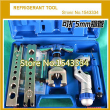 "WK-808FT-L Eccentric Cone Type Copper Tube Flaring Tool kit from 1/4""-3/4""(5-19mm) with Copper Cutter+Deburring(China)"