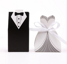 Hot sale 100pcs/lot wedding favor candy box Bride Groom Wedding invitation gifts, party decoration supply sweet box