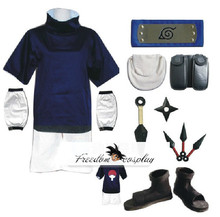 Uzumaki Naruto Sasuke Uchiha Cosplay Costume  Whole Set