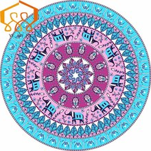 Round Beach Towel 150CM Chiffon Scarves Travel shawl Yoga Mats Blanket Camping Mattress Sleeping Pad Tapestry Bath Towel HotSale(China)
