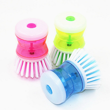 Random Color washing pot Brush kitchen gadgets Wash Tool Pan Dish Bowl brush Scrubber glove Cleaning brushes Cleaner