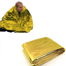 Hot Outdoor Waterproof Emergency Bag Insulation Disaster SOS Aid Life-saving Survival Rescue Insulation Blanket Hike 210*140CM(China)