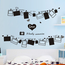 Love Photo Wall Decoration Simple Black And White Photo Wall Stickers(China)
