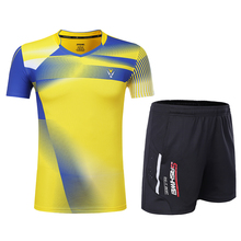 Free Print Qucik dry Badminton sports clothes Tennis suit , table tennis clothes, badminton wear sets Women/Men 3867(China)
