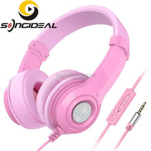 SONGIDEAL Headphones Adjustable Kids and Adults Headsets with Mic and Volume Control for Phone PC Computer Smartphones MP3 Pink(China)