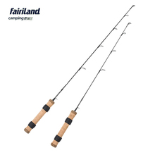 "61cm/71cm M L 100% Solid Carbon Ice Fishing Rod Lightweight Ice Fishing Pole Fish Rod 2' 2'4"" Winter Casting Rod Free Shipping(China)"