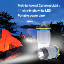 3 Modes USB Port LED Rechargeable Camping Lantern 330LM Light Power Bank Portable Tent Camping Tent Outdoor Lighting(China)
