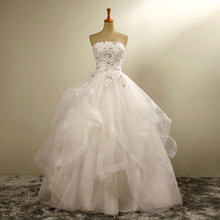 Free Shipping Off the Shoulder Fashion Strapless Wedding Dresses A Line Shining Crystal Lace Up Back Bridal Gown Custom Size