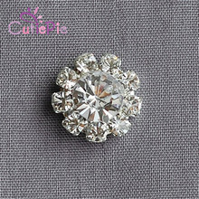 30pcs/lot 12MM Flatback Rhinestone Buttons Round Diamante Crystal Hair Flower Center Wedding Invitation Scrapbooking Accessories(China)
