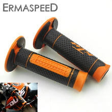 "7/8"" 22mm Motorcycle Hand Grips Handle Rubber Bar Gel Grip Orange Modified Accessory for KTM Duke 125 200 390 690 990 Motocross(China)"