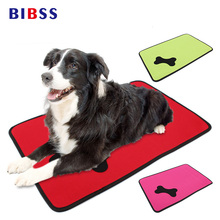 Rose Green Pet Dog Mattress for Cat Puppy Paw Printed Home Car Dog Bench Cushion Cover Cheap Cute Waterproof Dog Beds for Puppy(China)