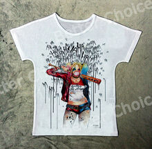 Track Ship+New Vintage Retro T-shirt Top Tee Suicide Super Doctor Bubble Girl 1358