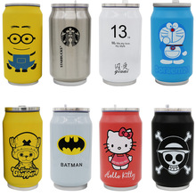Insulated 350ML 500ML flask water bottle Cartoon children's coke cans, Starbucks  vacuum insulation tea Cup bap free