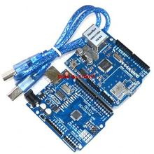 ! Ethernet W5100 network expansion board SD card Shield for with UNO R3 and usb cable(China)