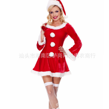 Sexy christmas costumes women christmas clothes women sexy santa costumes for women Santa Claus suit disfraz sexy sexy lingerie(China)