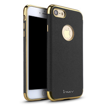 100% Original Ipaky brand luxury high end leather plating case for iphone 7 for iphone 7 plus with electroplating frame in stock
