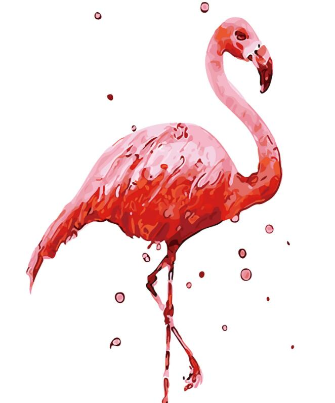 2017 New 22 styles Digital Diy oil painting by numbers Flamingo picture on canvas oil paint coloring by number drawing x38 12