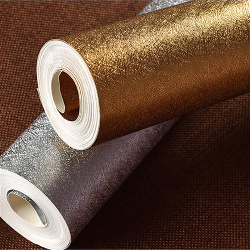 Beibehang Gold foil silver foil gold silver solid color wallpaper hotel living room background color drawing cable 3d wallpaper<br>