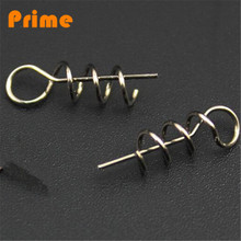 Fishing bait screw Assist Soft Baits holder Hook Soft Lures Pin Spring Fixed Lock Fishing Screw Dagger Fishing Tools