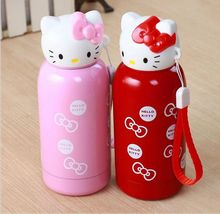 KT Cat cartoon stainless steel vacuume flask Kitty cold and hot water thermoses