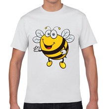 Joy Only 2017 New Brand Summer Style Bee Shape Funny T-shirt Cotton Tee Shirt T Shirt Men Camisas Men's Clothing Camisetas Sales