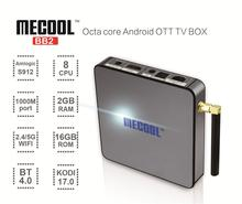 10 pcs/lots DHL free Android TV Box MECOOL BB2 AML S912 Octa Core 2G+16G Android 6.0 Marshmallow 1000M, Wifi 2.4G/5G