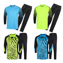Top Can Customized Men's Soccer Goalkeeper Jersey Set Sponge Protector Suit Camisetas De Futbol Jersey Kids Goal Keeper Uniforms