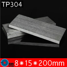 8 * 15 * 200mm TP304 Stainless Steel Flats ISO Certified AISI304 Stainless Steel Plate Steel 304 Sheet Free Shipping