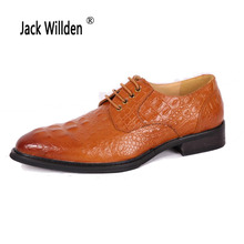 Jack Willden Classical Men Dress Wedding Shoes Luxury Men's Fashion Business Oxfords Casual Shoe Black/Brown Leather Derby Shoes