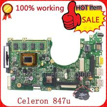 SHUOHU x202e  For ASUS S200E X202E X201E X202EP Vivobook  motherboard REV2.0 Celeron Dual-Core 847cpu 2G RAM onboard 100% tested