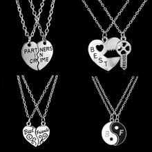 2017 New Style Fashion Friendship Broken Heart Parts 2 Best Friend Necklaces & Pendants,Share With Your Friends.