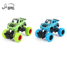 Cool Mini Alloy Metal 1: 36 Scale Diecast Car Baby Toys Kids Pull Back Beat-up Car Model Vehicle Open Door Toy for Children Gift(China)