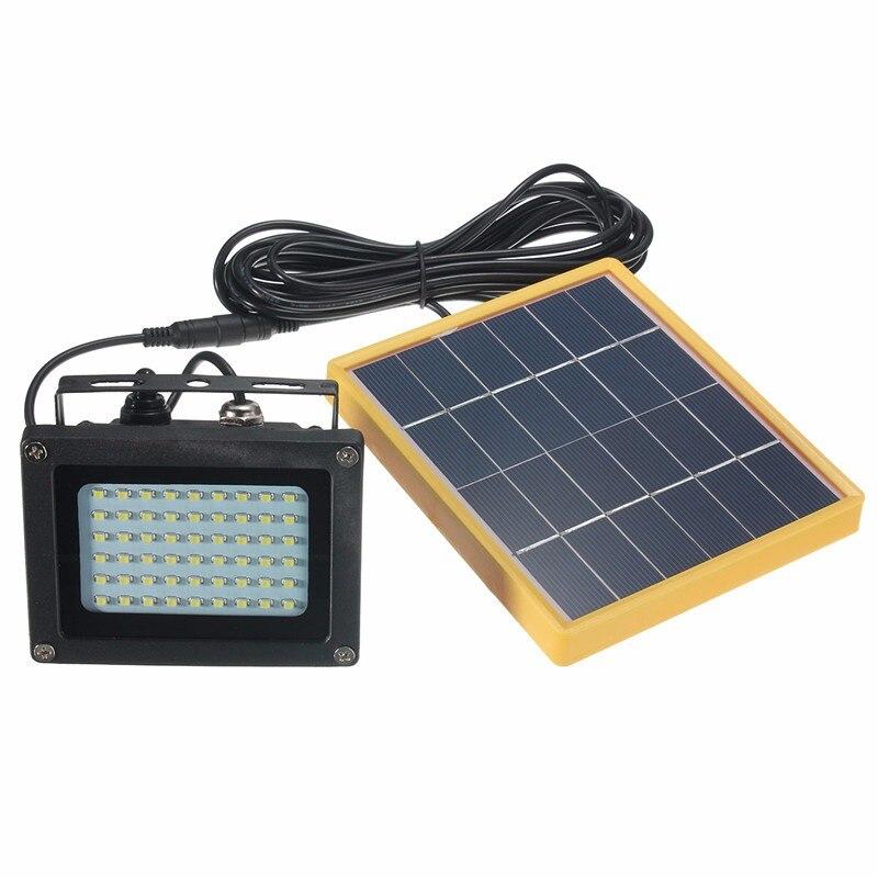 54 LED Solar Light 3528 SMD Sensor Outdoor Lighting Security Flood Light Waterproof Manual Control And Light Control Mode<br>