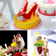 High Heel Shoe Chocolate Fondant Mold Baking DIY 3D Cute Lady's Shoes Candy Mould Sugar Paste Mold For Cake Decoration(China)