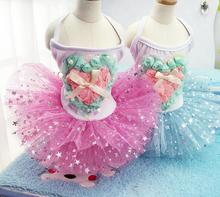 1pcs dogs cats fashion love lace tutu printess dress doggy summer style rose flower party dresses puppy costume 1pcs XS-XXL