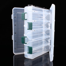 1pcs Double Side Plastic Fishing Box 12 Compartment Waterproof Fishing Tackle Box Fishing Hook Bait Lure Storage Box Case